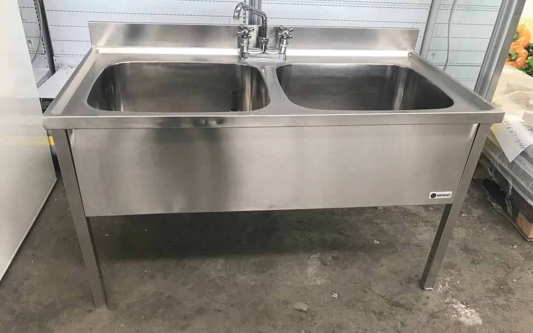 Ristoaffari S.r.l.: Lavello acciaio inox doppia vasca Mareno